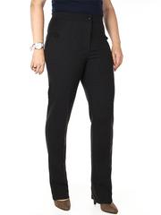 37-09 брюки женские утепленные, черно-серые