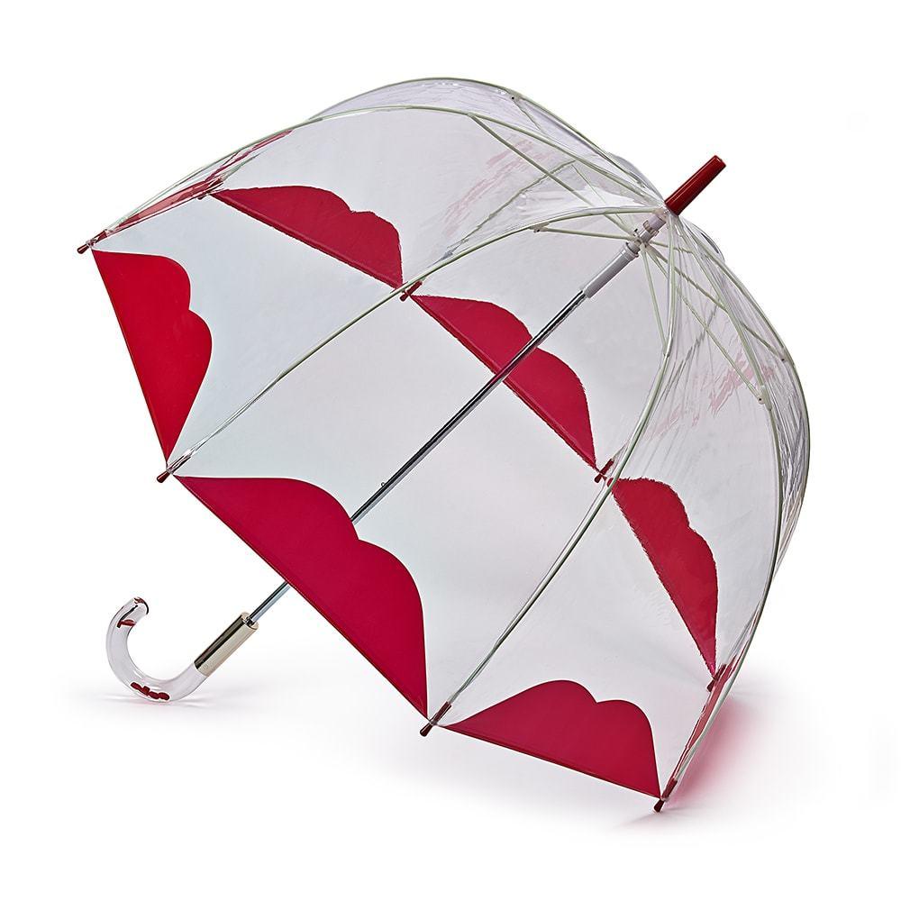 Зонт женский трость Lulu Guinness Fulton HalfLip (Половинка губы)