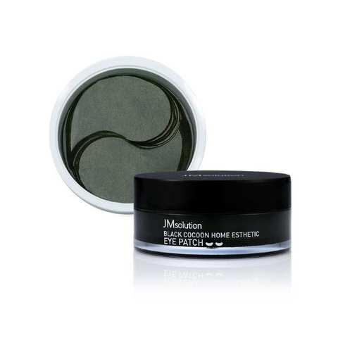 Гидрогелевые патчи ультраувлажняющие с охлаждающим эффектом и аминокислотами шелкопряда, 60 шт. / JMSolution Black Cocoon Home Esthetic Eye Patch