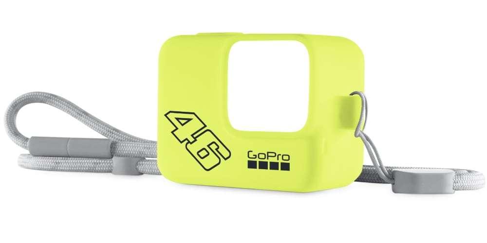 Силиконовый чехол с ремешком GoPro (желтый) Валентино Росси