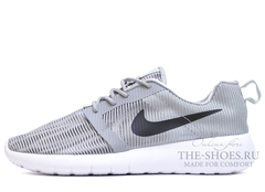 Кроссовки Мужские Nike Roshe Run SMR Grey White