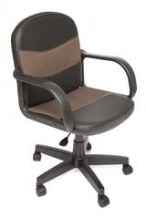 Кресло компьютерное Багги (Baggi) — черный/бежевый (36-6/12)