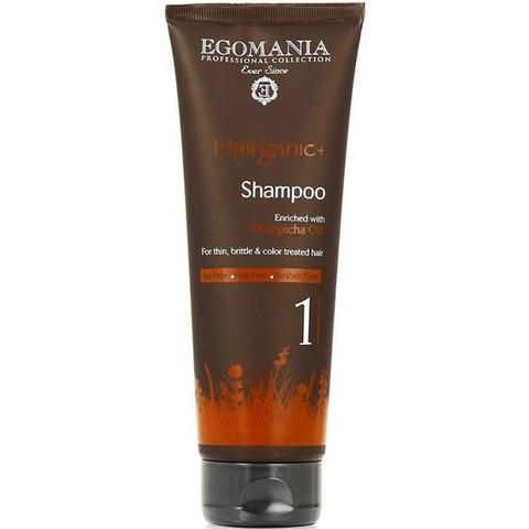Шампунь с маслом облепихи для тонких, ломких и окрашенных волос, Egomania Hairganic,250 мл.