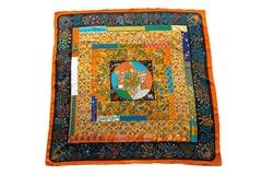 Итальянский платок из шелка желтый квадраты 5178
