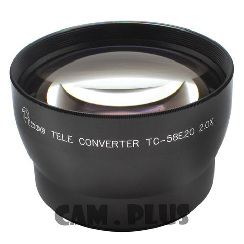 PIXCO 52mm 2.0X Tele-Photo Lens (Silver) For Canon Nikon Sony Olympus Pentax Panasonic