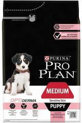 Сухой корм, Purina Pro Plan, для щенков средних пород с чувствительной кожей, с лососем и рисом