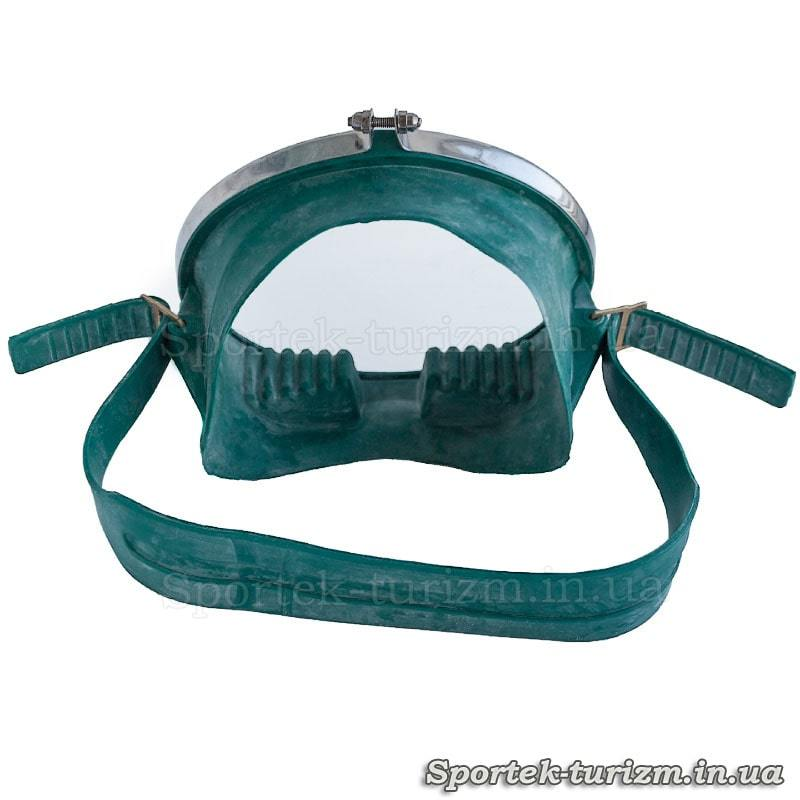 Вид сзади на маску для подводного плавания Акванавт Dorfin