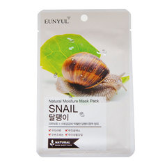 Eunyul Natural Moisture Mask Pack Snail - Тканевая маска для лица с муцином улитки