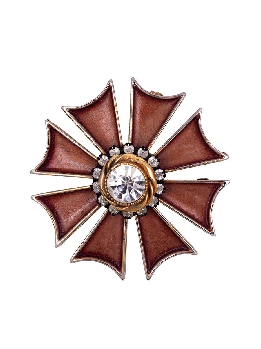 Великолепная брошь Har в виде мальтийского креста