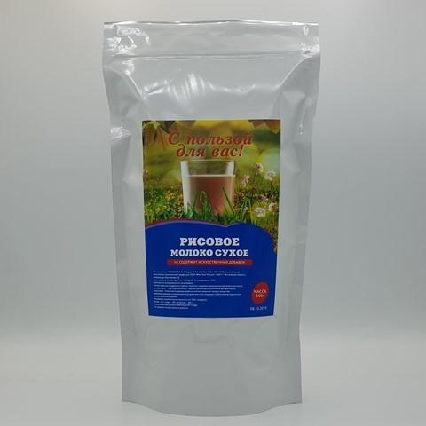 Рисовое молоко сухое С ПОЛЬЗОЙ ДЛЯ ВАС, 500 гр