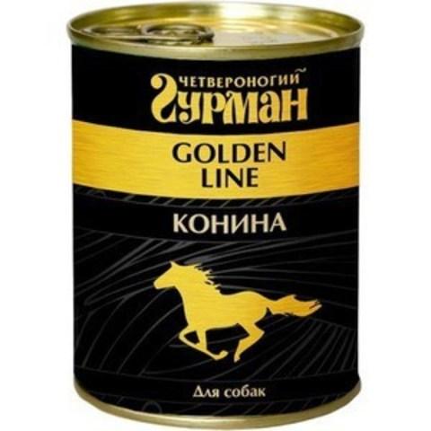 Четвероногий гурман консервы для собак конина натуральная в желе 340г