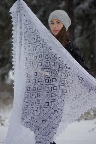 Оренбургский пуховый платок 70