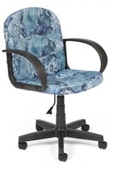 """Кресло компьютерное Багги (Baggi) — принт """"Карта на синем"""""""
