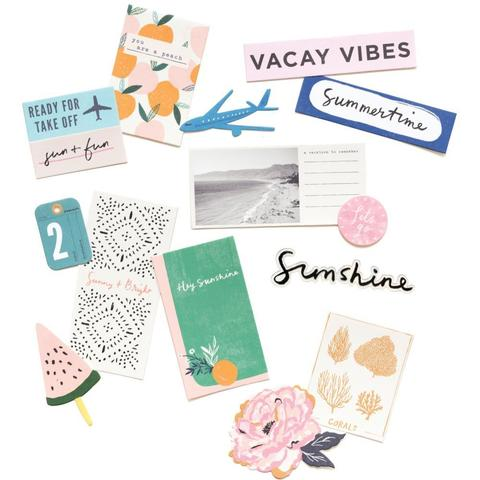 Высечки Sunny Days от Crate Paper- Cardstock & Acetate