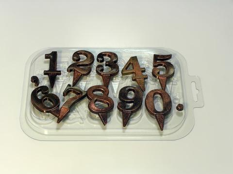 Форма для шоколада Цифры на ножке