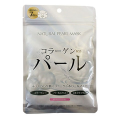 Japan Gals Natural Pearl Mask - Курс натуральных масок для лица с экстрактом жемчуга
