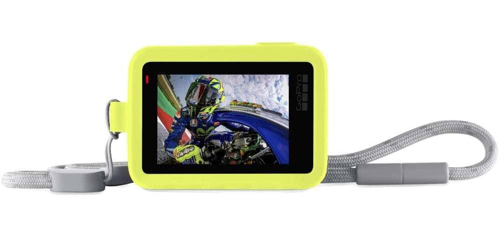 Силиконовый чехол с ремешком GoPro (желтый) экран