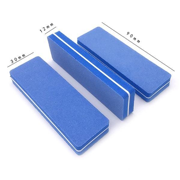 1000 шт баф для маникюра 85х28 мм, основа пластик 100/180 грит