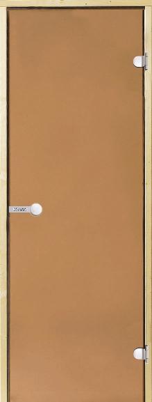 Дверь Harvia STG 9×21 коробка сосна, стекло бронза, фото 1