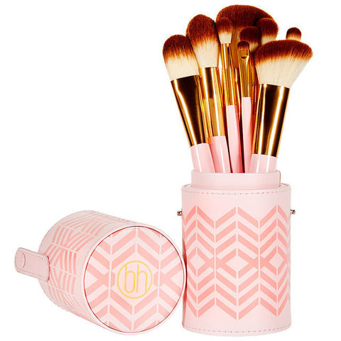 Набор кистей в тубусе Pink Perfection - 10 Piece Brush Set BH Cosmetics