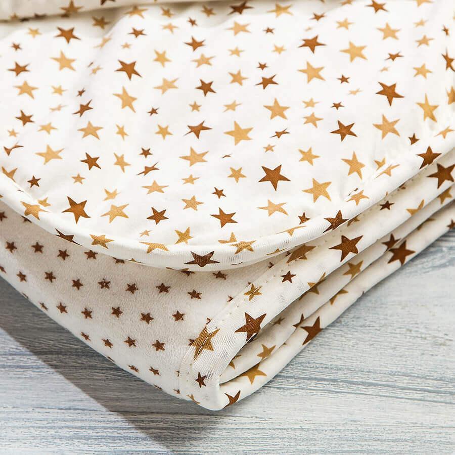 Одеяло велюровое утепленное для новорожденных