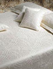 Постельное белье 2 спальное евро Roberto Cavalli Damasco белое