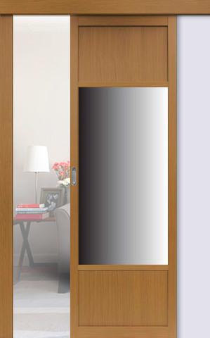 Перегородка межкомнатная Optima Porte 131.111 зеркало, цвет орех классический, глухая (за 1 кв.м)