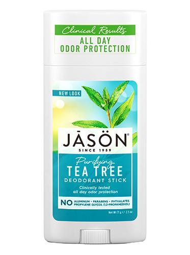 Твердый дезодорант-антисептик с маслом чайного дерева, Jason