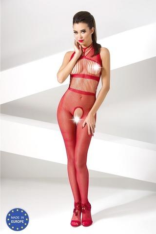 Бодистокинг из сетки с вертикальным плетением (048) красный