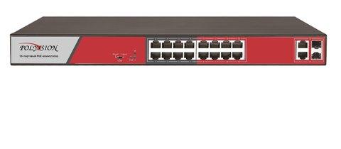 Сетевой коммутатор Polyvision PND-16P-2G2F