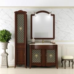 Мебель для ванной Opadiris Виктория  92.4х89х58см. с мраморной столешницей и зеркалом с светильниками