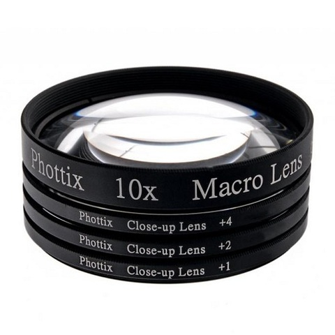 Макролинзы Phottix Macro Lens Filters +1+2+4 10x 77mm
