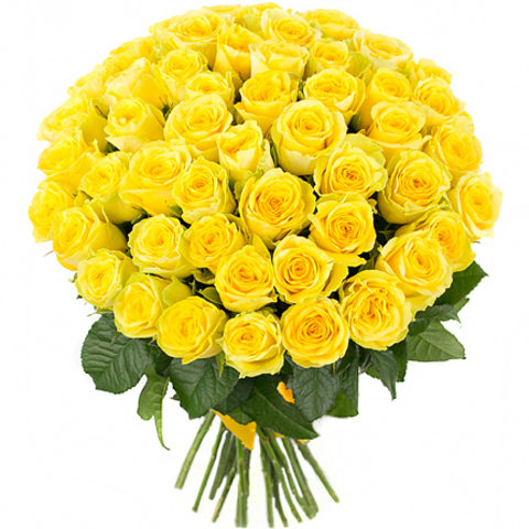 Желтые розы/ 70 - 80 см