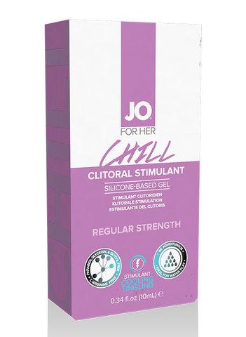 Возбуждающая гель смазка для клитора (охлаждающая) JO CHILL 10 мл