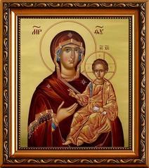 Люблинская икона Божьей Матери на холсте.