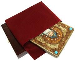 Инкрустированная икона Преподобный Илия Муромец, Печерский 29х21см на натуральном дереве в подарочной коробке