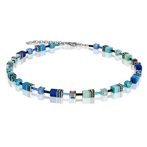 Колье Coeur de Lion 2838/10-0705 цвет синий, голубой, зелёный