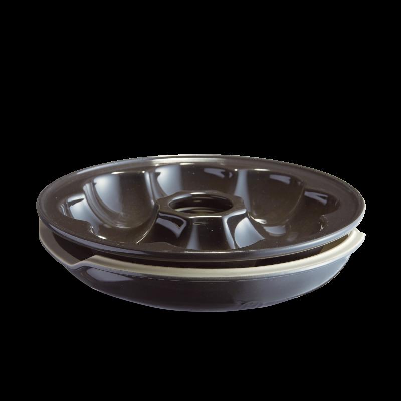 Форма Crown Baker для булочек Emile Henry (базальт)
