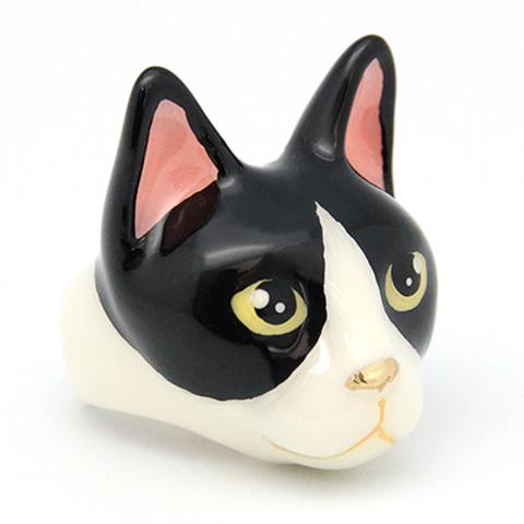 Кольцо Кошка (черно-белая)