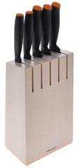 Набор ножей в деревянном блоке 5шт. Fiskars FF 1014211