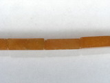 Бусина из авантюрина красного, фигурная, 4x13 мм (цилиндр, граненая)