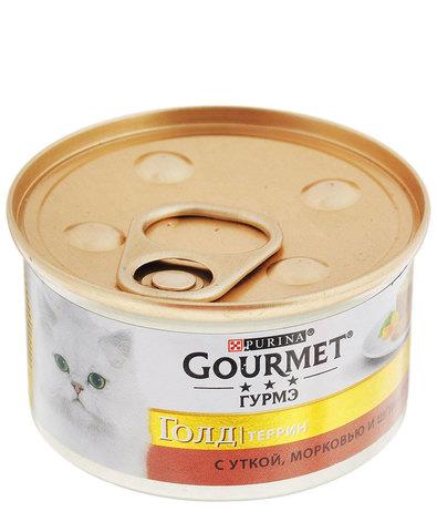 Gourmet Gold консервы для кошек с утка морковь шпинат 85г
