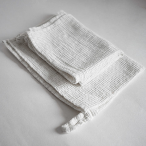 Вафельное полотенце белое