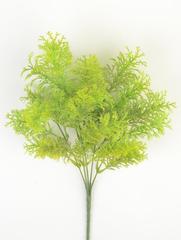 Искусственная зелень аспарагус пушистый, букет 5 веток, 34 см.