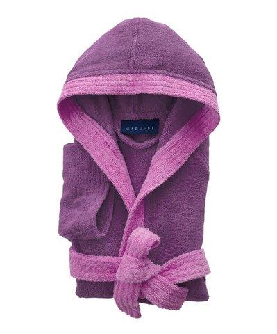 Элитный халат детский махровый Young сиреневый от Caleffi
