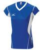 Женская волейбольная футболка Mizuno Premium CapSleeve (V2EA4701M 71) синяя