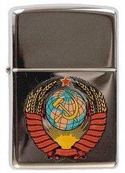 Зажигалка ZIPPO Classic High Polish Chrome™ с Гербом СССР ZP-250 Герб СССР