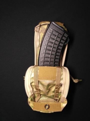 Обратный быстрый закрытый подсумок для двух магазинов АК-74 Zip