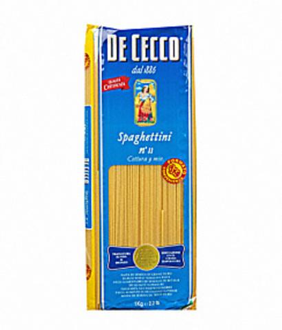 Паста Спагеттини №11 DE CECCO
