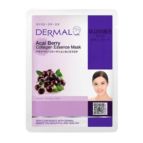 Dermal Маска д/лица ткан. ягоды асаи и коллаген Acai Berry Collagen Essence Mask, 23 гр